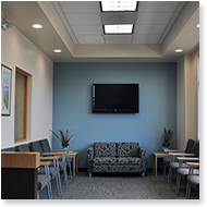 Waiting Room for Mid-Atlantic Retina Specialist, Hagerstown, Maryland